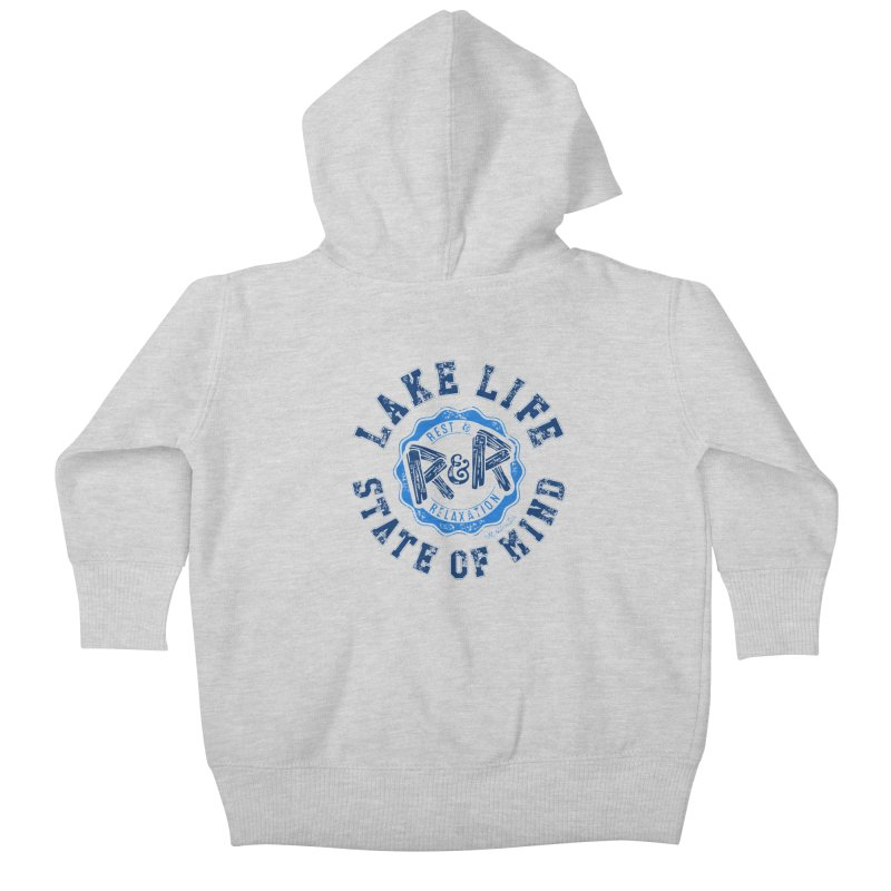 Lake Life State of Mind Kids Baby Zip-Up Hoody by My Nature Side