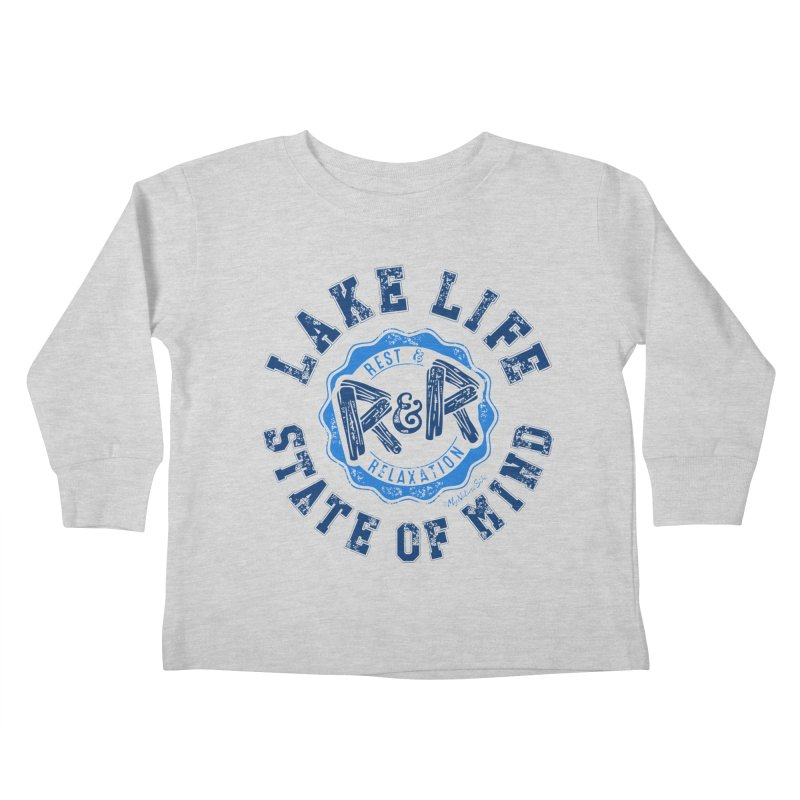 Lake Life State of Mind Kids Toddler Longsleeve T-Shirt by My Nature Side