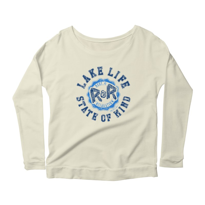 Lake Life State of Mind Women's Longsleeve Scoopneck  by My Nature Side