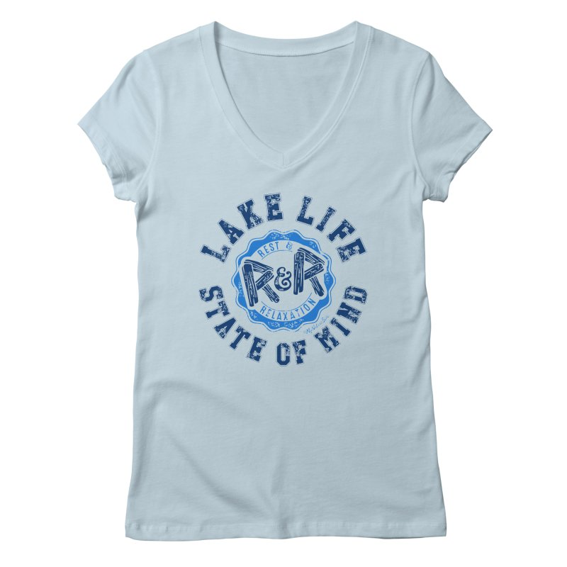Lake Life State of Mind Women's Regular V-Neck by My Nature Side