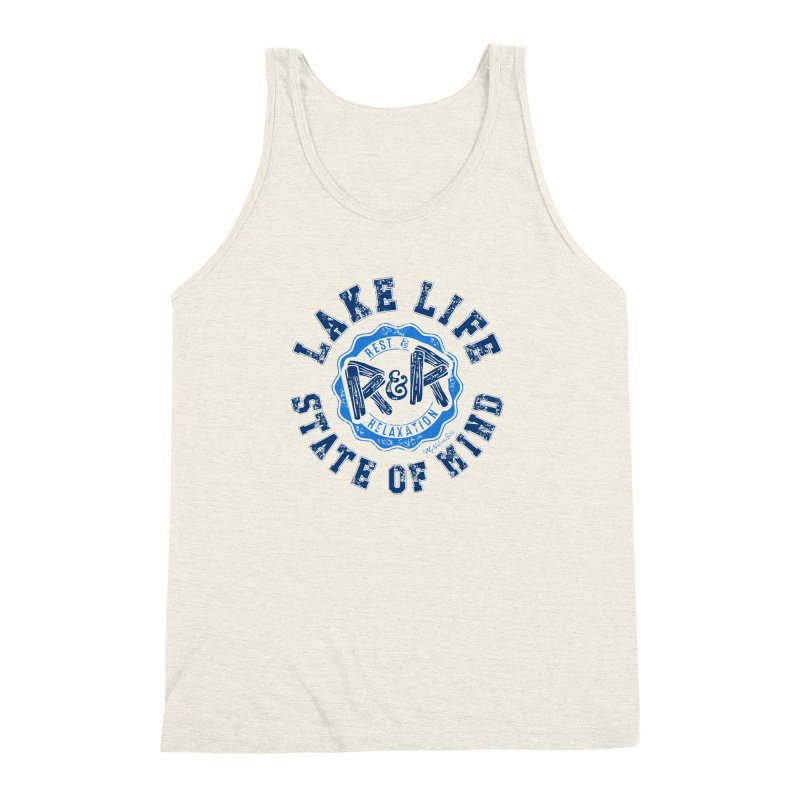Lake Life State of Mind Men's Triblend Tank by My Nature Side