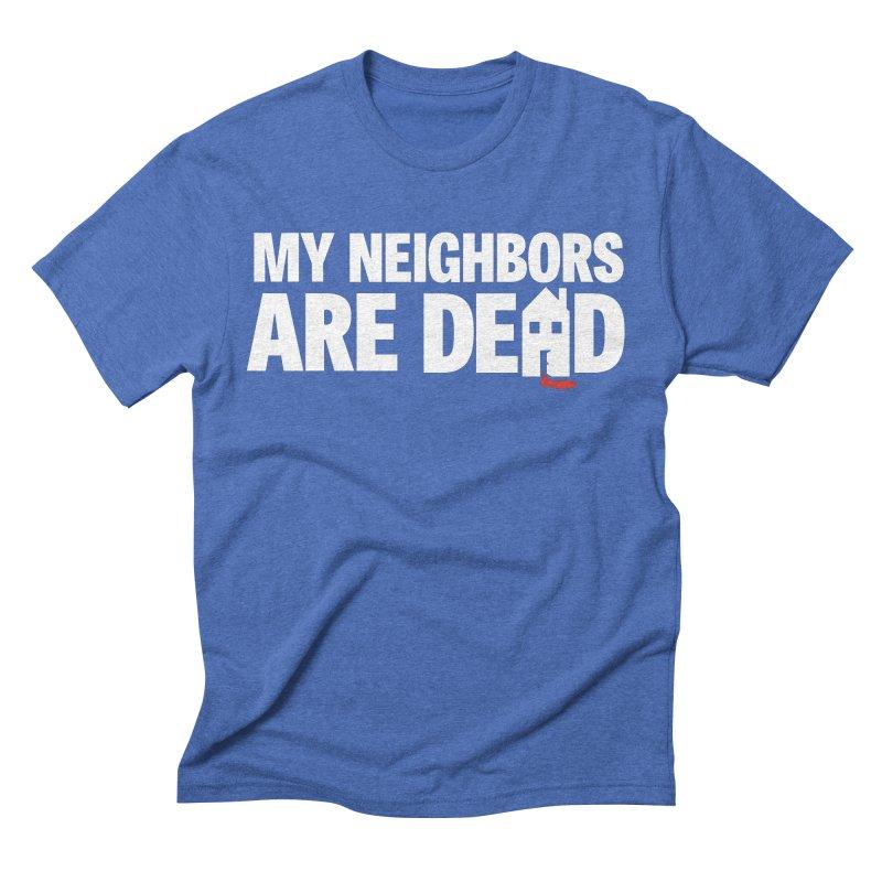 My Neighbors Are Dead Logo Tee in Men's Triblend T-Shirt Blue Triblend by My Neighbors Are Dead Artist Shop