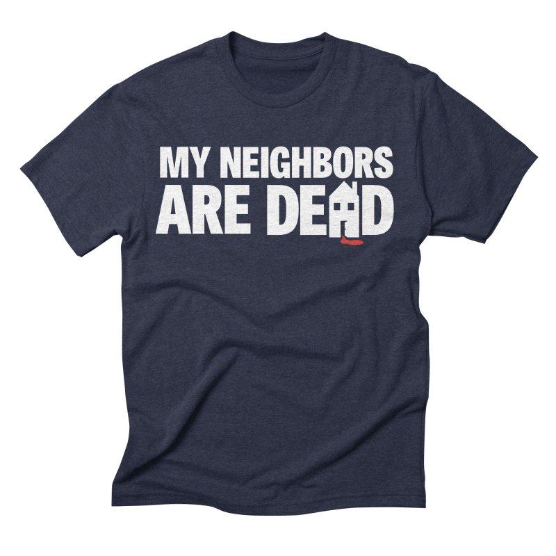 My Neighbors Are Dead Logo Tee in Men's Triblend T-Shirt Navy by My Neighbors Are Dead Artist Shop