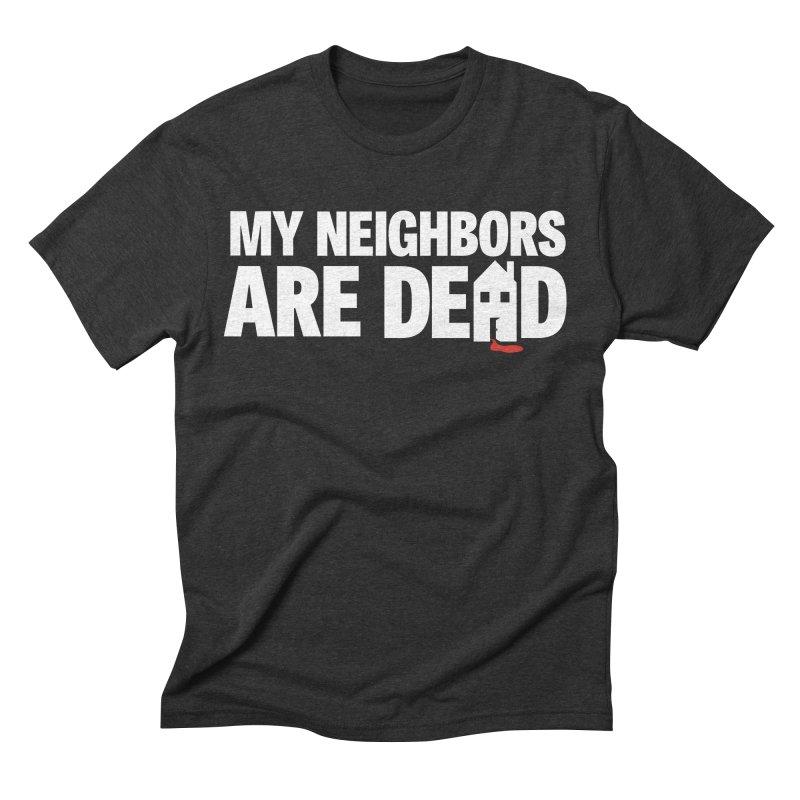 My Neighbors Are Dead Logo Tee in Men's Triblend T-Shirt Heather Onyx by My Neighbors Are Dead Artist Shop