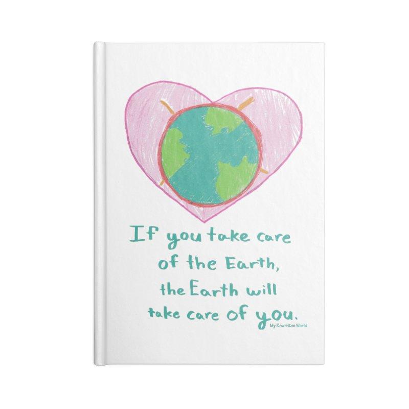 World Love Accessories Blank Journal Notebook by My Rewritten World Artist Shop