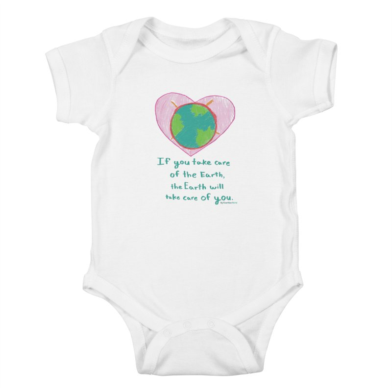 World Love Kids Baby Bodysuit by My Rewritten World Artist Shop