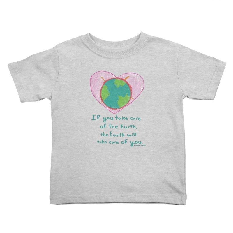 World Love Kids Toddler T-Shirt by My Rewritten World Artist Shop