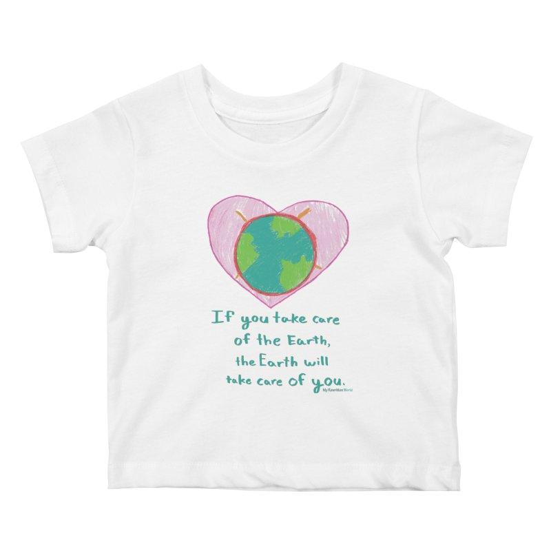World Love Kids Baby T-Shirt by My Rewritten World Artist Shop