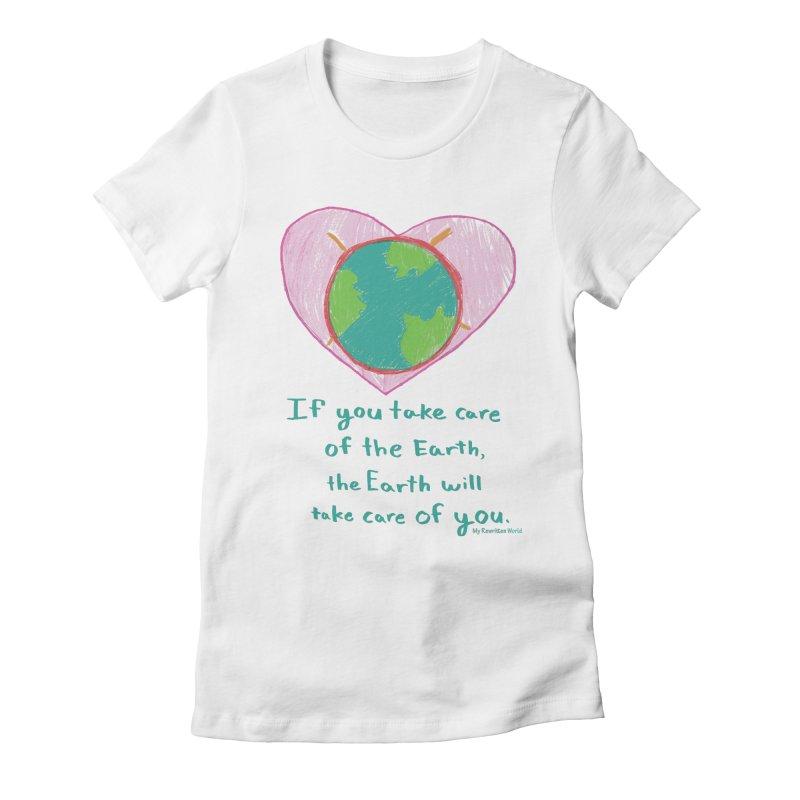 World Love Women's Fitted T-Shirt by My Rewritten World Artist Shop