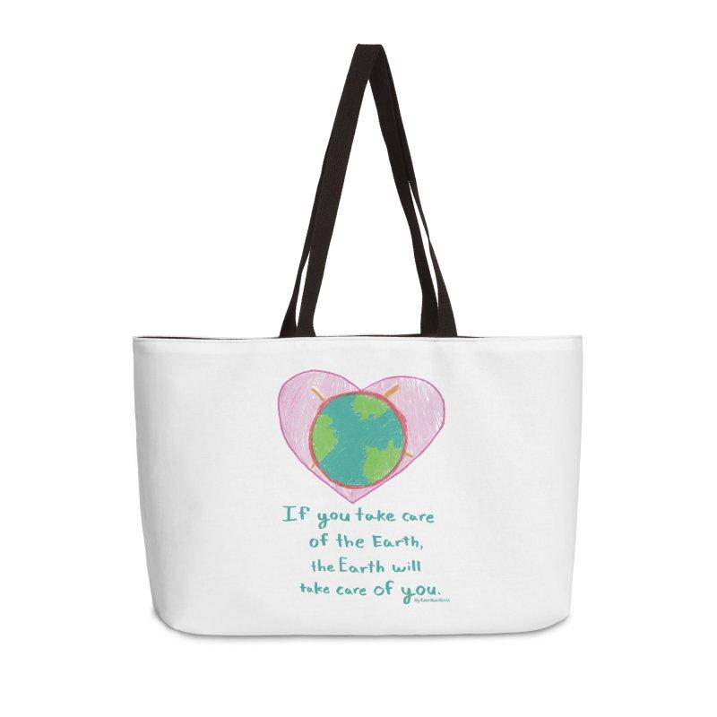 World Love Accessories Weekender Bag Bag by My Rewritten World Artist Shop