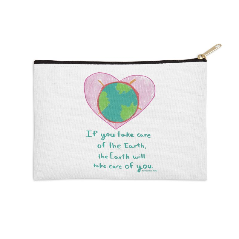 World Love Accessories Zip Pouch by My Rewritten World Artist Shop
