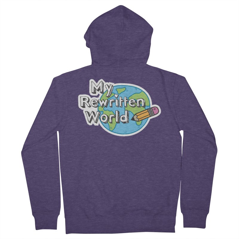 My Rewritten World logo Men's French Terry Zip-Up Hoody by My Rewritten World Artist Shop