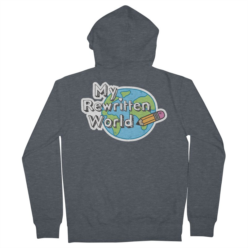My Rewritten World logo Men's French Terry Zip-Up Hoody by My Rewritten World Artist Shop