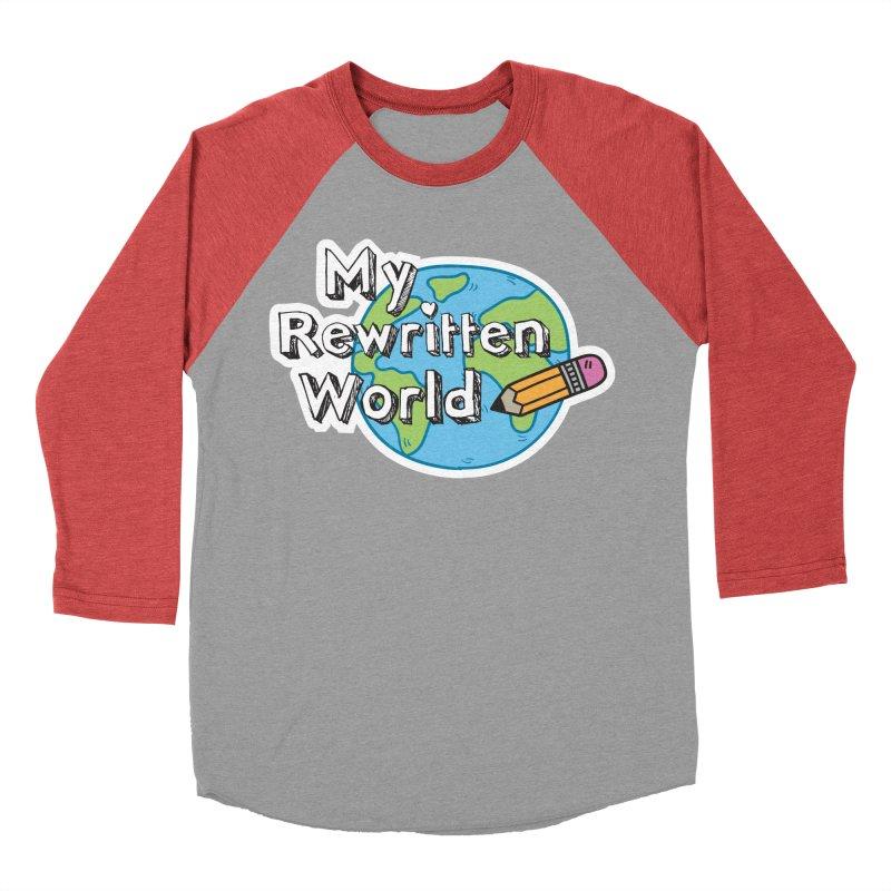 My Rewritten World logo Men's Baseball Triblend Longsleeve T-Shirt by My Rewritten World Artist Shop