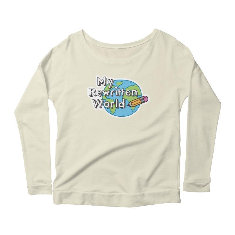 My Rewritten World logo Women's Scoop Neck Longsleeve T-Shirt by My Rewritten World Artist Shop