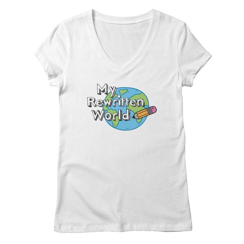 My Rewritten World logo Women's Regular V-Neck by My Rewritten World Artist Shop