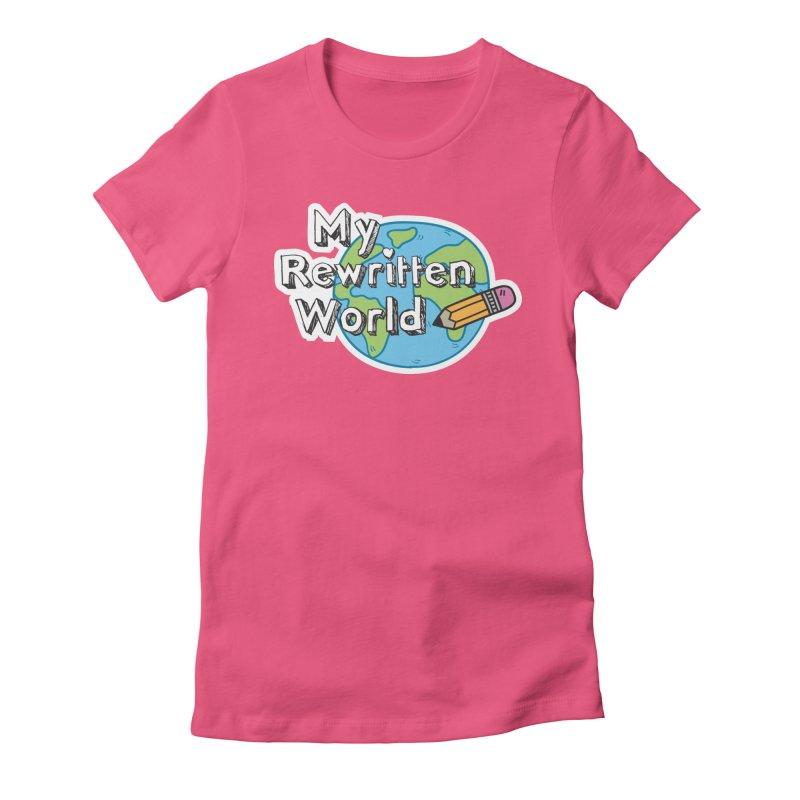 My Rewritten World logo Women's Fitted T-Shirt by My Rewritten World Artist Shop