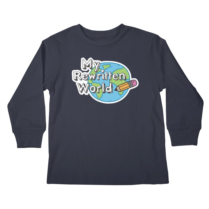 My Rewritten World logo Kids Longsleeve T-Shirt by My Rewritten World Artist Shop
