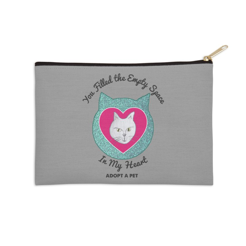 Adopt a Cat Accessories Zip Pouch by My Rewritten World Artist Shop