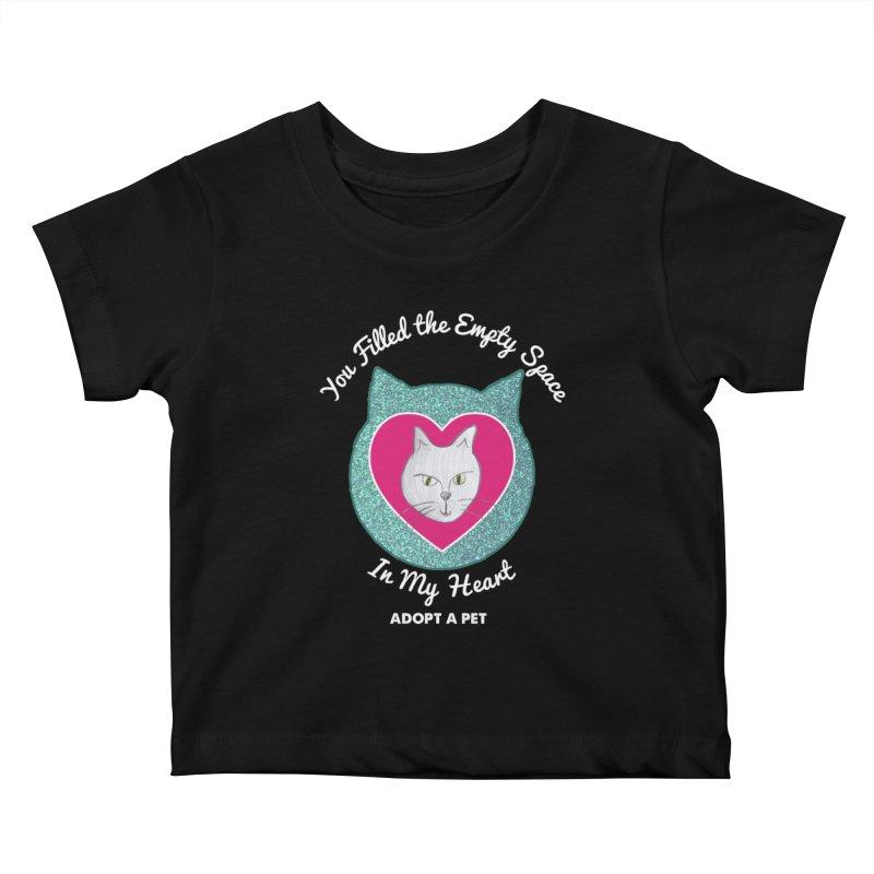 Adopt a Cat Kids Baby T-Shirt by My Rewritten World Artist Shop