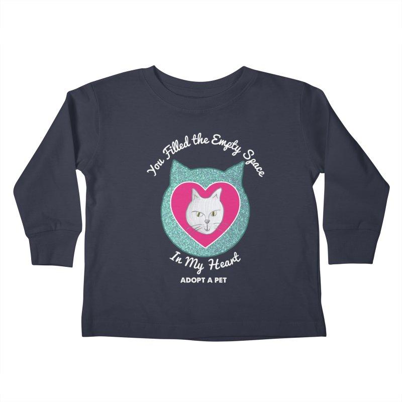 Adopt a Cat Kids Toddler Longsleeve T-Shirt by My Rewritten World Artist Shop