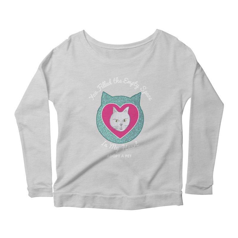Adopt a Cat Women's Scoop Neck Longsleeve T-Shirt by My Rewritten World Artist Shop