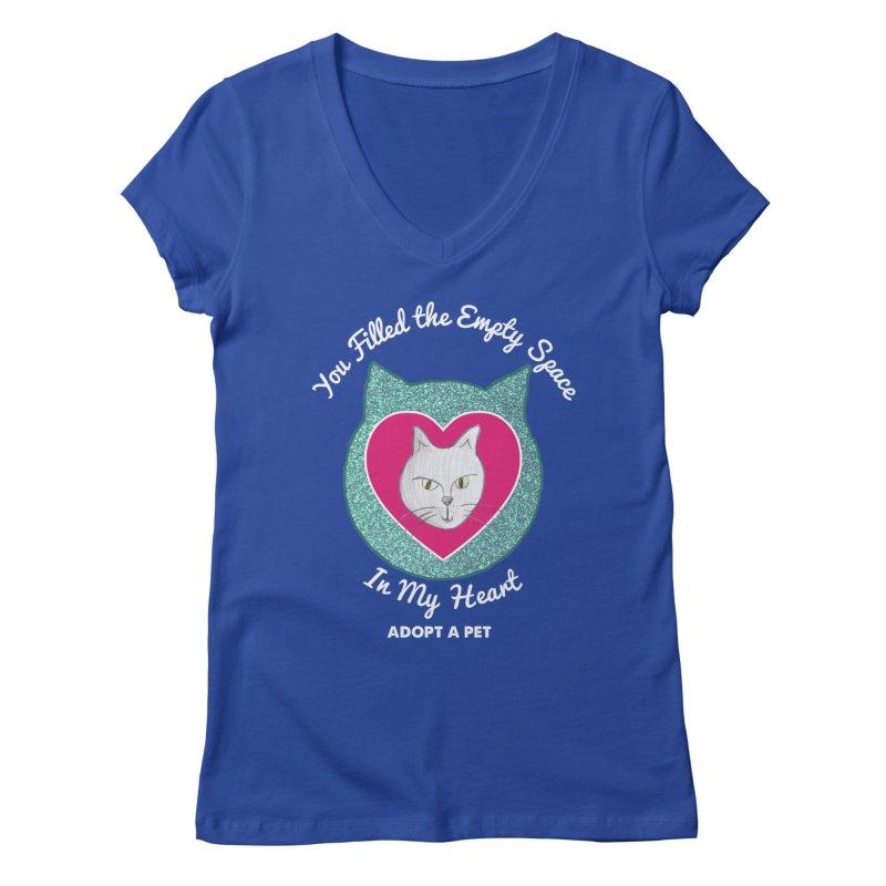 Adopt a Cat Women's Regular V-Neck by My Rewritten World Artist Shop