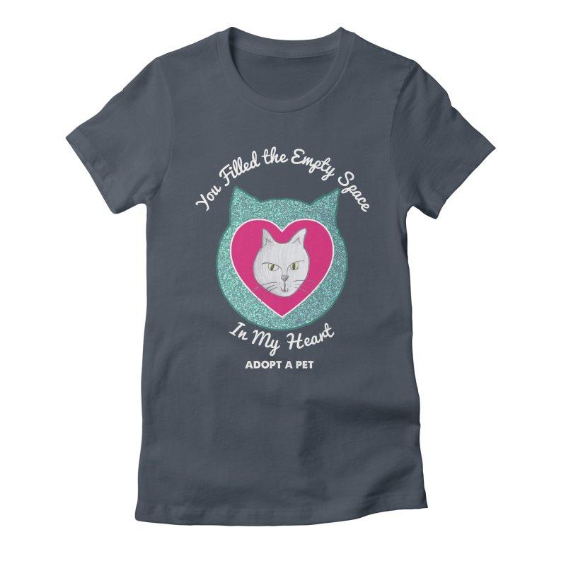 Adopt a Cat Women's Fitted T-Shirt by My Rewritten World Artist Shop