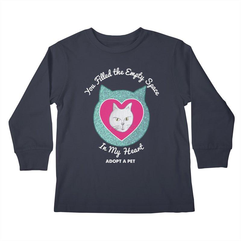 Adopt a Cat Kids Longsleeve T-Shirt by My Rewritten World Artist Shop