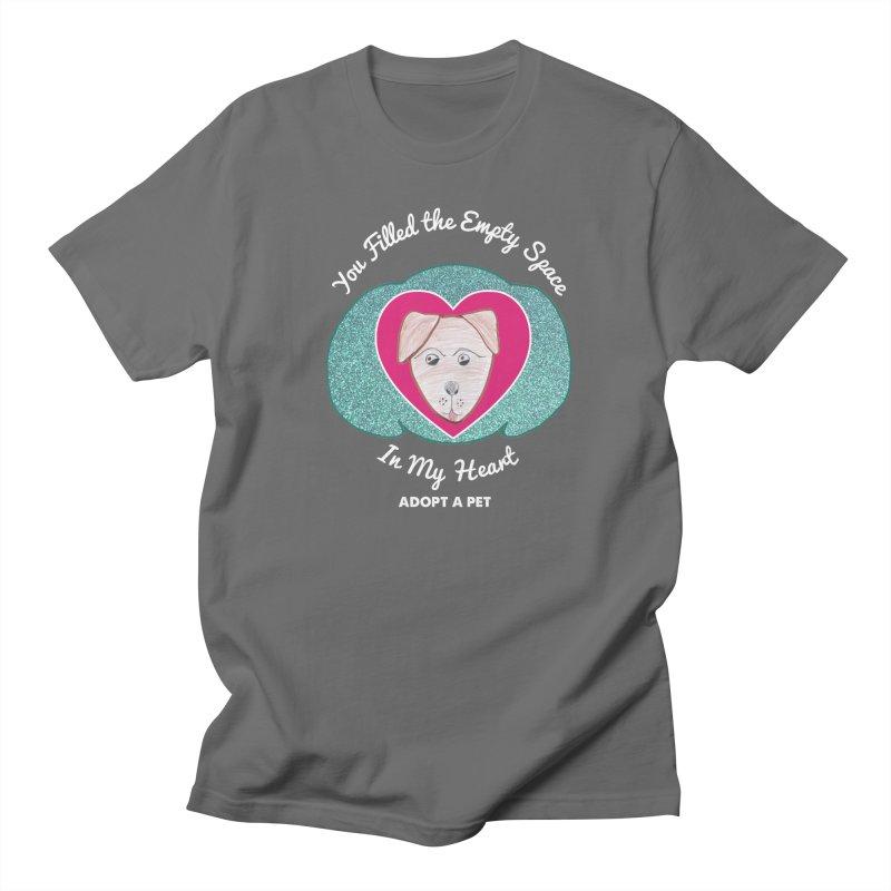 Adopt a dog Men's T-Shirt by My Rewritten World Artist Shop