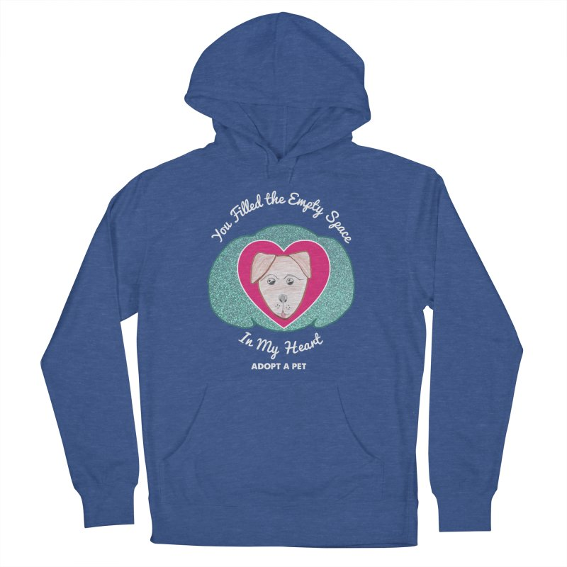 Adopt a dog Men's French Terry Pullover Hoody by My Rewritten World Artist Shop