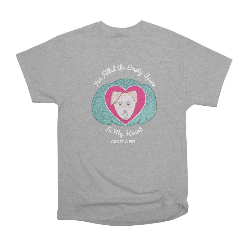 Adopt a dog Women's Heavyweight Unisex T-Shirt by My Rewritten World Artist Shop
