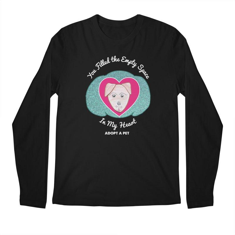 Adopt a dog Men's Regular Longsleeve T-Shirt by My Rewritten World Artist Shop