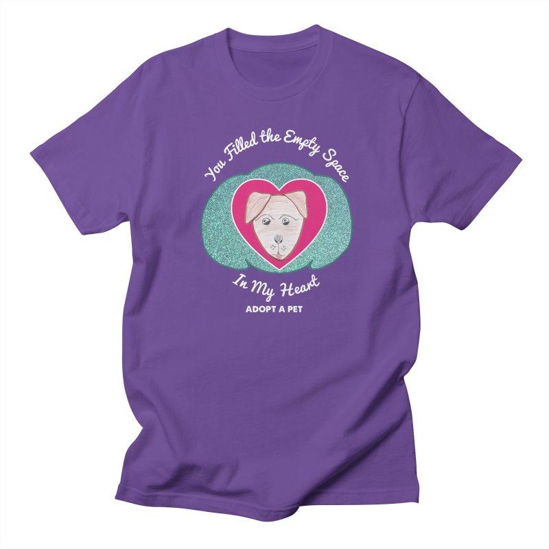 Adopt a dog Women's Regular Unisex T-Shirt by My Rewritten World Artist Shop