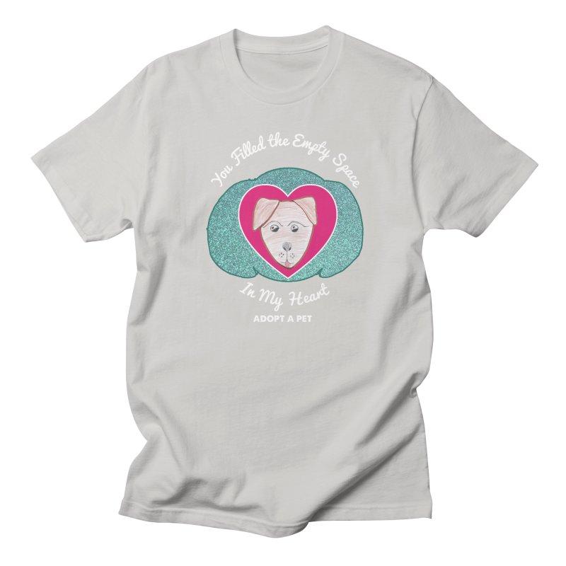 Adopt a dog Men's Regular T-Shirt by My Rewritten World Artist Shop