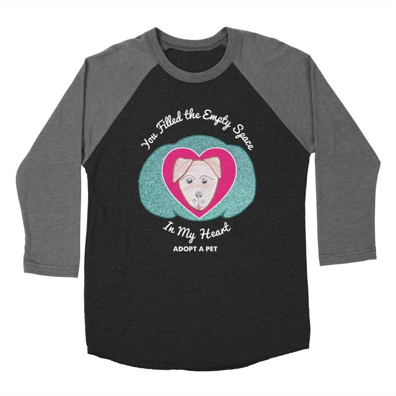 Adopt a dog Men's Baseball Triblend Longsleeve T-Shirt by My Rewritten World Artist Shop