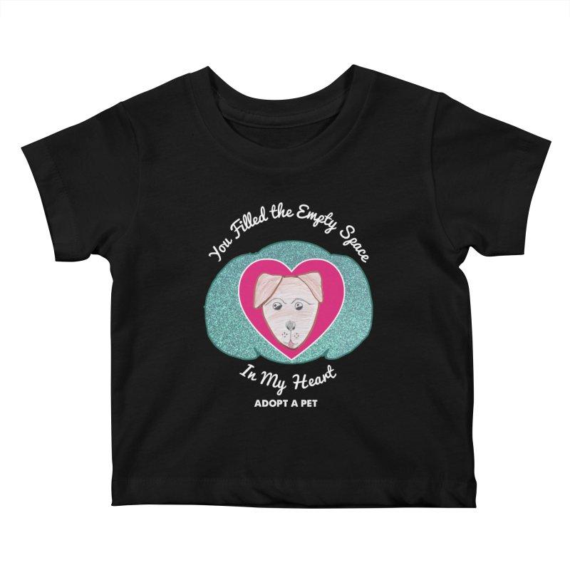 Adopt a dog Kids Baby T-Shirt by My Rewritten World Artist Shop
