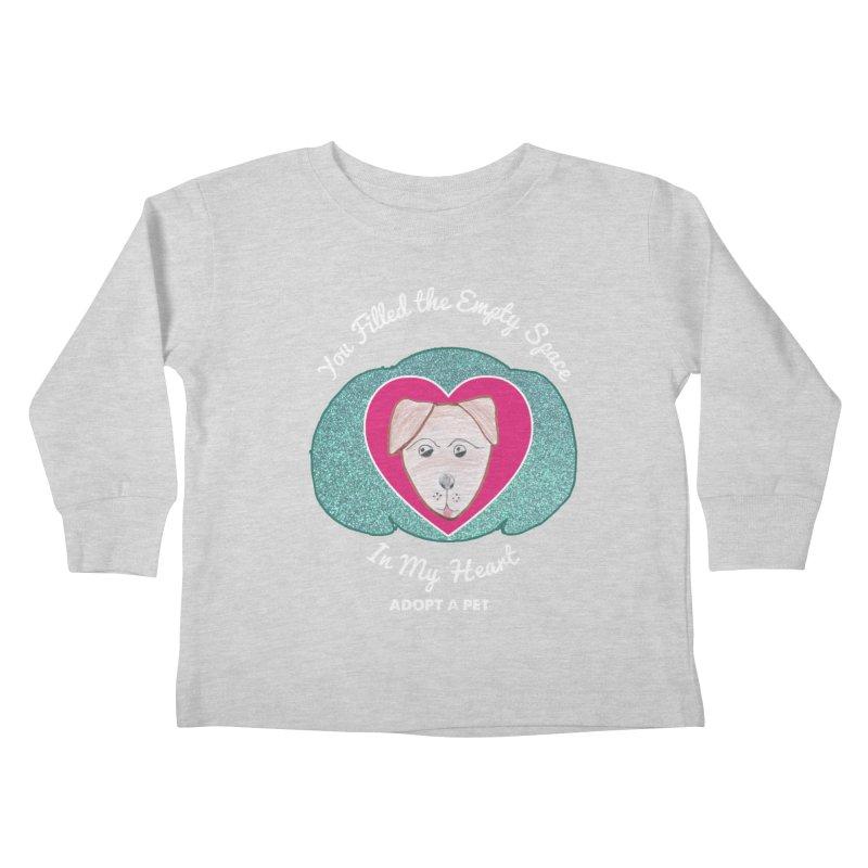 Adopt a dog Kids Toddler Longsleeve T-Shirt by My Rewritten World Artist Shop