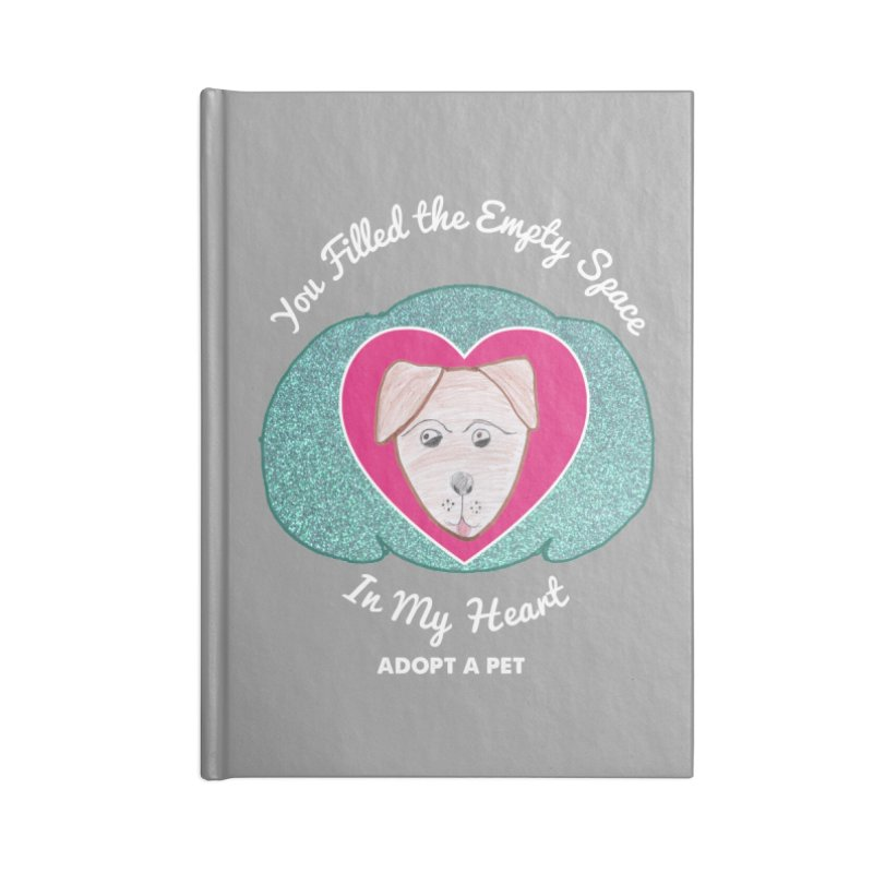 Adopt a dog Accessories Blank Journal Notebook by My Rewritten World Artist Shop
