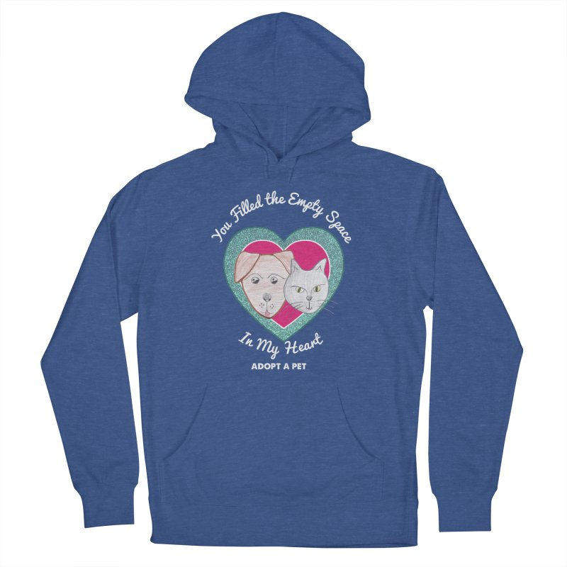 Adopt all the pets Women's French Terry Pullover Hoody by My Rewritten World Artist Shop
