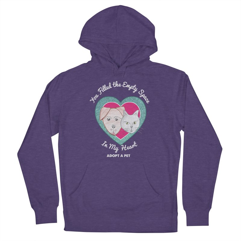 Adopt all the pets Men's French Terry Pullover Hoody by My Rewritten World Artist Shop