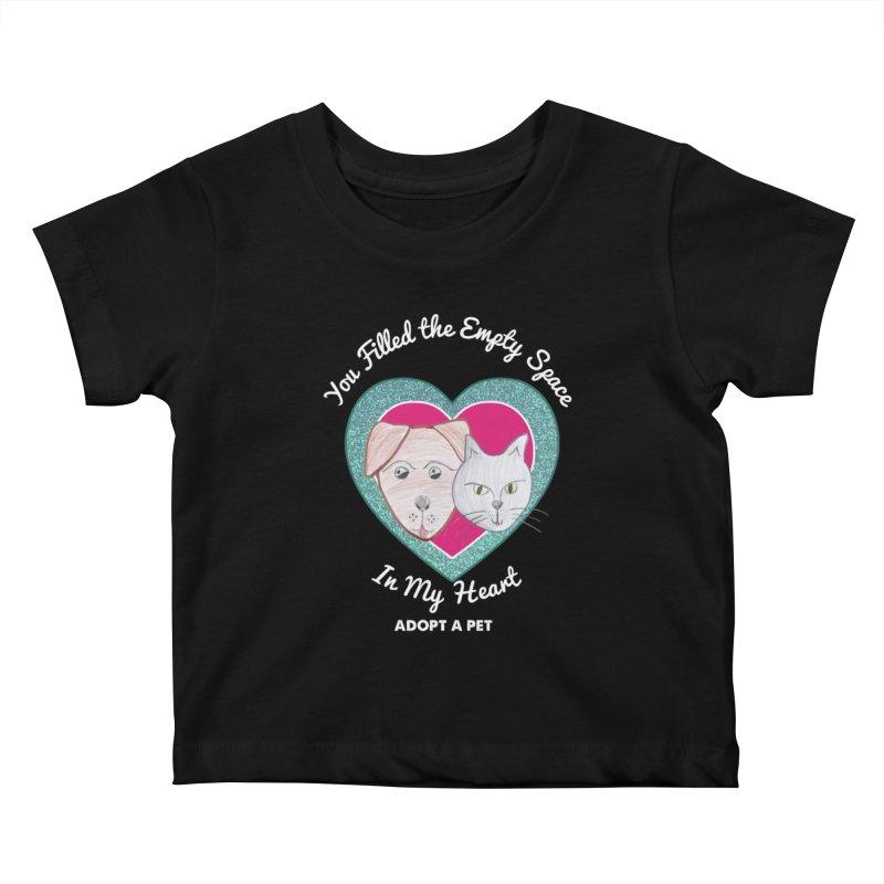 Adopt all the pets Kids Baby T-Shirt by My Rewritten World Artist Shop
