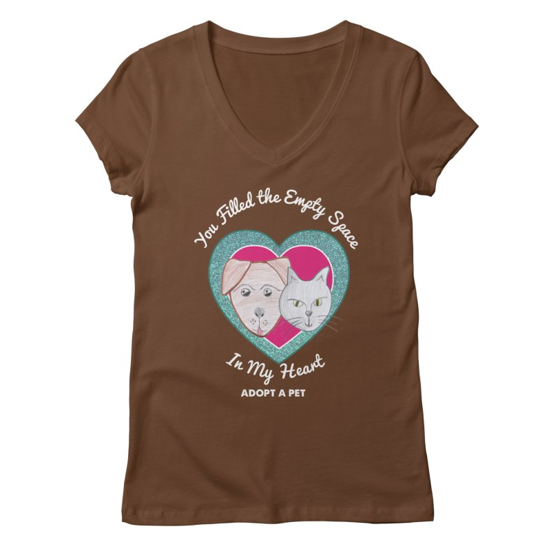 Adopt all the pets Women's Regular V-Neck by My Rewritten World Artist Shop