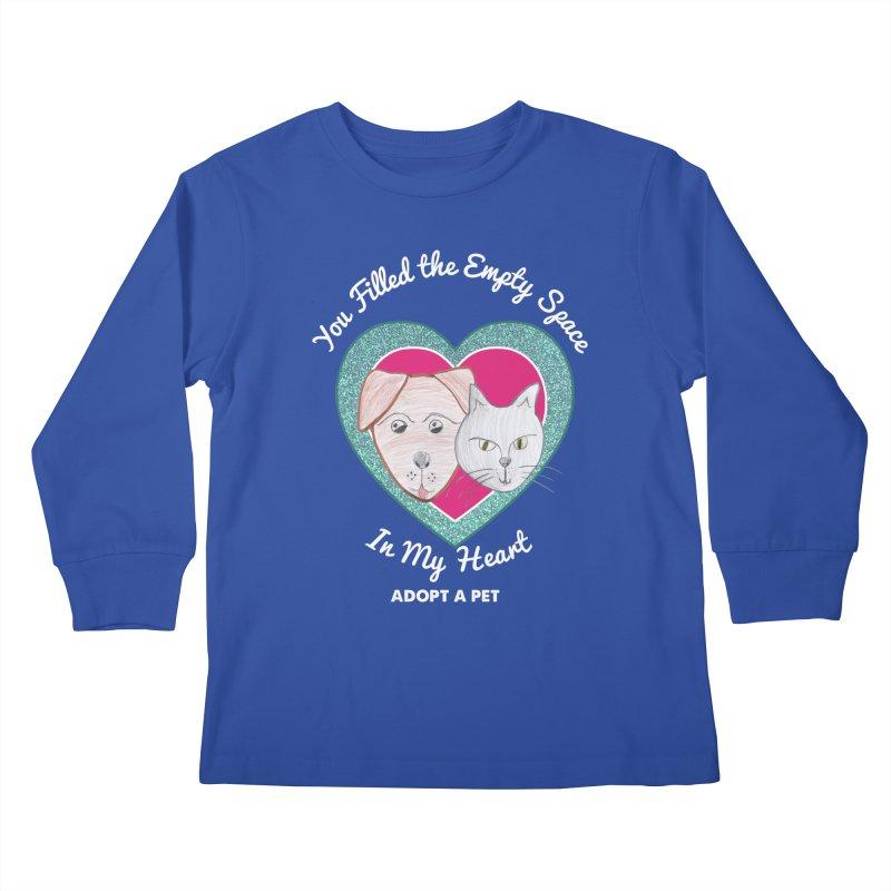 Adopt all the pets Kids Longsleeve T-Shirt by My Rewritten World Artist Shop