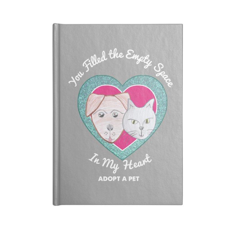 Adopt all the pets Accessories Blank Journal Notebook by My Rewritten World Artist Shop