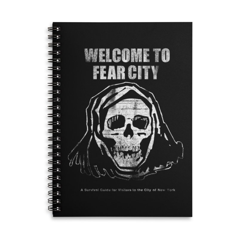 Welcome to Fear City (White Variant) Accessories Notebook by Mystery Supply Co.