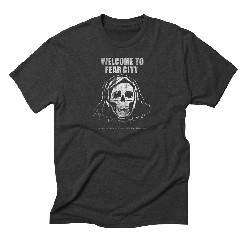 Welcome to Fear City (White Variant) Men's T-Shirt by Mystery Supply Co.