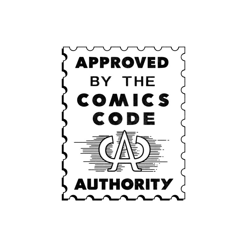 Approved by the Comics Code Authority Accessories Button by Mystery Supply Co.