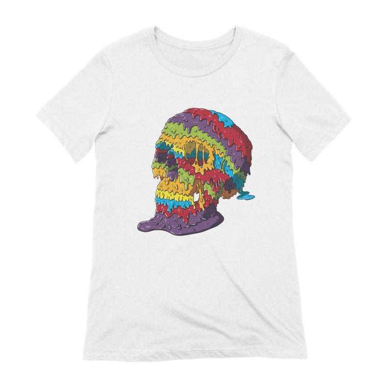 Melty Skull Women's Extra Soft T-Shirt by Mystic Soda