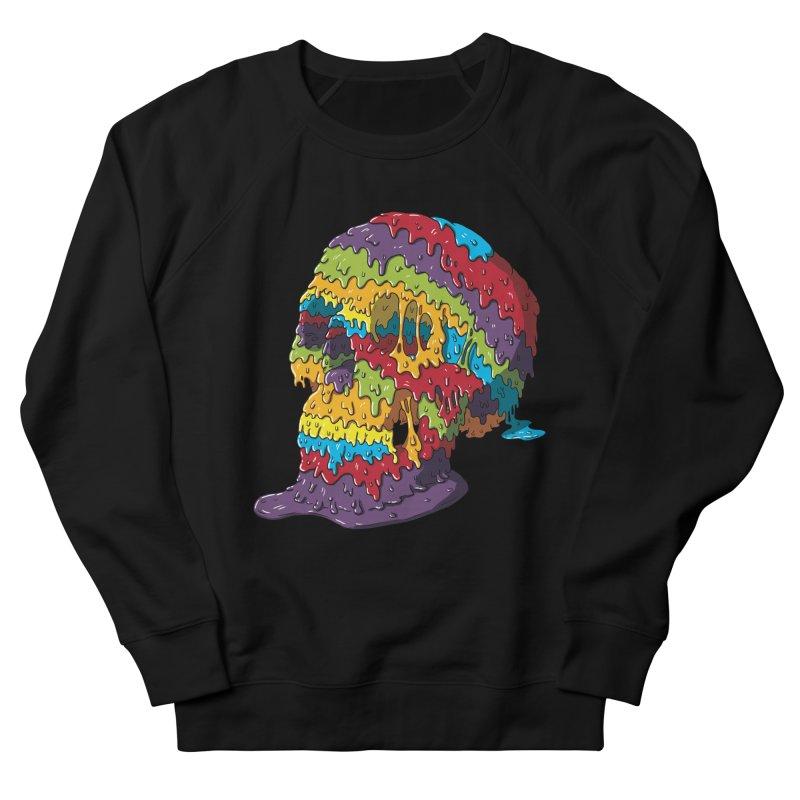 Melty Skull Men's French Terry Sweatshirt by Mystic Soda